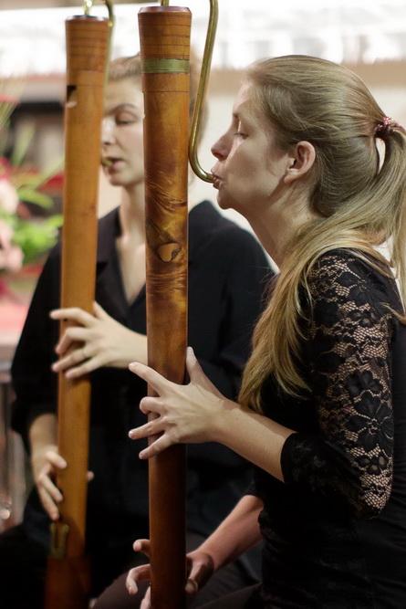 MOJE MISLI SO KRILATE, 16.9.2020, Ansambel kljunastih flavt Le Phénix: Marjana Jocif, Una Košir  (Foto: Goran Antlej)
